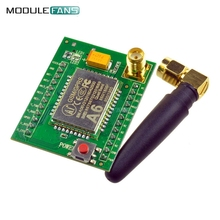 Smart Electronics GPRS Module GSM Module A6 SMS Speech Board Wireless Data Trans Adapter Plate 3.3V-4.2V Quad-band AT