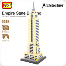 LOZ Blocks Architecture Model Building Bricks City Empire State Building Toy Forge World DIY Educational Toys For Children 9388(China)
