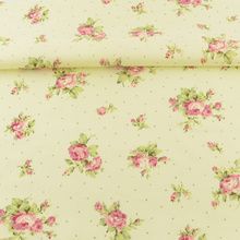 Beige Printed Floral Home Textile Cotton Fabric Sewing Cloth Decoration Bedding Scrapbooking Tissue Quilting Patchwork Twill CM