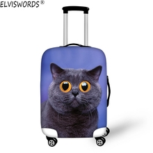 ELVISWORDS New Arrival 3D Animal Elastic Travel Luggage Protective Cover Suitcase 18-30 inch Case Luggage Cover for Maleta Viaje