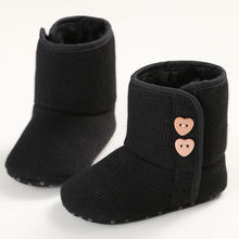 2016 Fashion Winter Infant Toddler Newborn Baby Boys Girls Kids Crib First Walkers Ankle Snow Shoes Boots Antiskid Booties Booty(China)