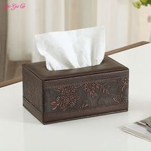 Jia-Gui Luo 1 Piece Of Fashion And Elegant European Luxury Leather Box Of Tissue Boxes Napkin Tissue Scaffold 19 cm * 12 cm * 9.