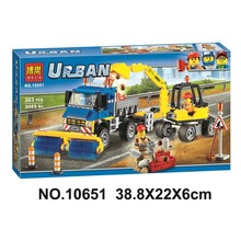Bela 10651 Compatible legoe Urban City Sweeper Excavator Building Blocks Bricks Toys Gifts for Children Model(China)