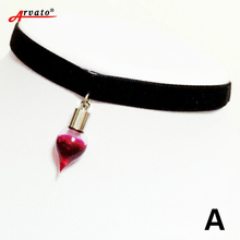 Vampire Bottle Plasma Necklace for Men and Women Gothic Charm Necklace Halloween Jewelry Alternative Necklace(China)