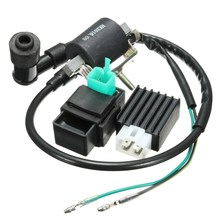 Black Ignition Coil CDI Unit Rectifier Regulator Fits for 110cc 125cc 140cc Pit Dirt Bike(China)
