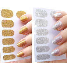 Manicure DIY Design Gold Sliver Nail Sticker Adhesive Nail Tape Wraps Glue On Stickers and Decals Nail Art Decorations 2017 Hot