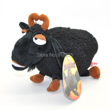 "Free Shipping EMS 100/Lot Dragon Black SHEEP 8"" Plush Figure Doll Toy(China)"