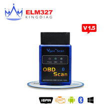 New MINI Vgate ELM 327 V1.5 Version Bluetooth 2.0 Vgate Scan OBD2 / OBDII ELM327 V 1.5 Code Scanner BT 16pin android Adapter