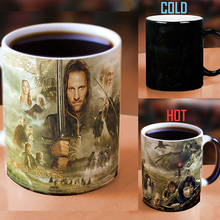 Drop shipping New Arrival Lord of the Rings Coffee Mug Mark Color Changing Cup Sensitive Ceramic Tea Cup