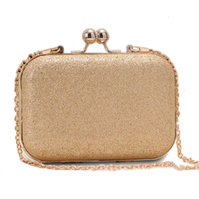Woman Evening Handbag Gold Glittered Clutch Chain bags Wallet Party Wedding Dress Handbags Girls Small Crossbody Bag