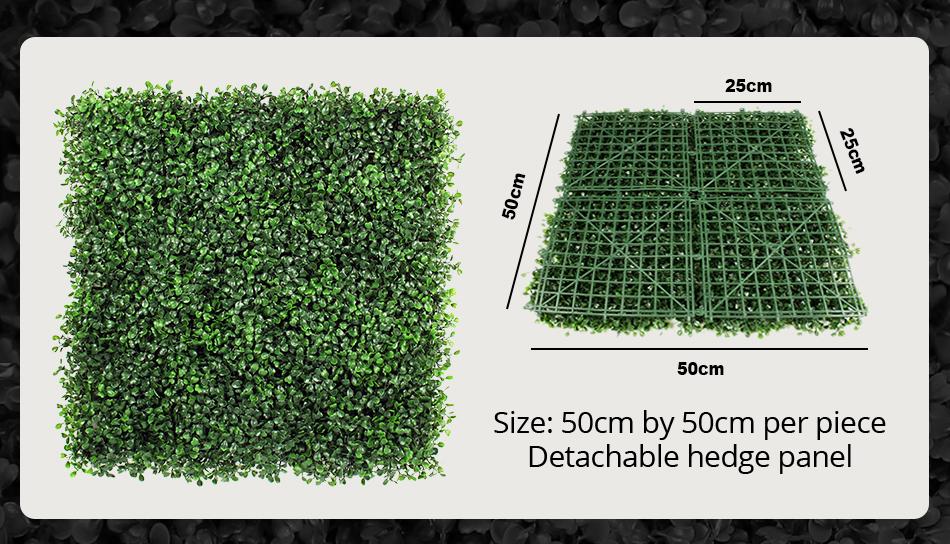 ULAND 25x25cm Artificial Boxwood Hedges Panel 10