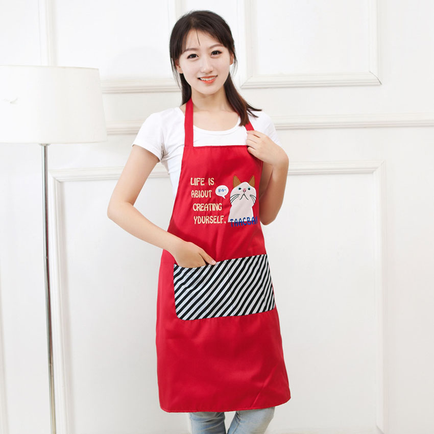 New Arrival Bib A Cute Cartoon Sleeveless Fashion Women Kitchen Cooking Work Clothes Overalls 12 5 13 5hfx In As From Home Garden On