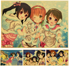 Japan Sexy Anime Love Live! Art Poster retro kraft paper vintage poster Anime Girl Pictures for Living Room wall sticker