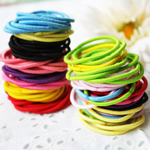 100 pcs/Lot Mix Color Candy Small 2mm Color Girl Hair Elastic Ties Rope Ponytail Holder Headband Kids Hair Accessory(China)