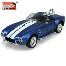 MZ 1:32 Ford Shelby Cobra 427 Classic Sports Car With Pull Back the Door Can Opened of Alloy Car Model For Children Toys Gifts