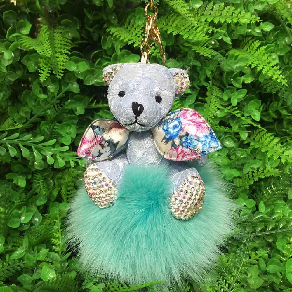 bear fox fur keychain 9 (6)