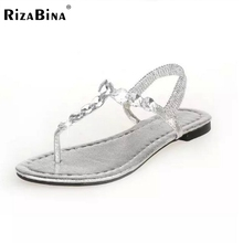 shoes woman summer style new fashion women sandals rhinestone women flat sandals gladiator sandals flip flops size 35-40 WD0047