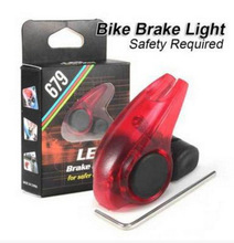 2pcs icycle Brake Light Safety Road Bike Warning LED Light Folding MTB Cycling Suitable for V Brakes Automatic Control