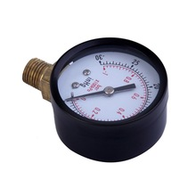 "Mas Tech Dry Utility Vacuum Pressure Gauge Blk Steel 1/4"" NPT Lower Mount -30HG/0PSI Brand New(China)"
