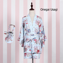 """Onegai Usagi"" Praying Rabbit Set Accessories--Waist Belt, Kimono Waist Band, Handbag(China)"