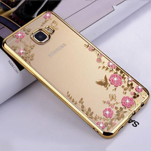 Buy Samsung A5 2017 Case Bling Flowers Crystal Rose Gold Plating Soft Silicone Back Cover Samsung Galaxy A5 2017 A520 5.2'' for $2.99 in AliExpress store