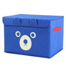 Cute cartoon bear Oxford debris storage finishing boxes, children's toys storage box I9853(China)