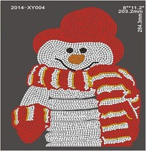 Snowman Pattern 50 Pcs/Lot hotfix rhinestone transfer designs  for clothes strass hotfix Wholesale