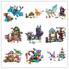 2017 NEW Girl friends Fairy Elves dragon Building Kits Brick christmas Toys Compatible with lego kid gift set girl birthday gift(China)