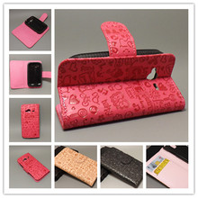Magic Girl stand Leather Case with 2 Card Holder and pouch slot For HTC G13 Wildfire S A510Efree shipping