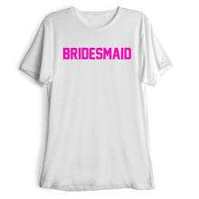 BRIDESMAID Letter Print T-Shirt Women Sexy  Tops Fashion Clothing t shirt Casual tees Free Shipping