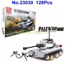 Jie Star 23030 128pcs Military Army American Tank Building Block Brick Toy