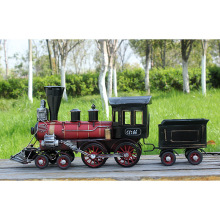 Handmade Steam Locomotive Train Model Creative Vintage Metal Craft Ornaments Home Decoration Miniature Craft Kids Christmas Toy(China)