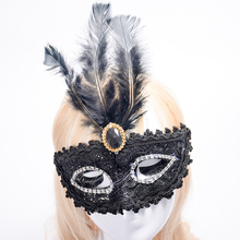 New Half Face Soft Feather Mask Lace Event Party Venetian Ball Masquerade Venetian Mask mascaras venecianas para fiestas P0.5