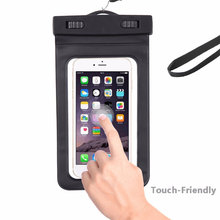 Buy Clear Waterproof Mobile Phone Bag Strap iPhone X 7 7 Plus, Pouch Cases Cover Samsung Galaxy S7 S8 Xiaomi Mi5 6 Case for $1.77 in AliExpress store