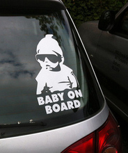 Baby on Board Car Safty Sticker Decal Waterproof Night Reflective Wall Stickers car covers