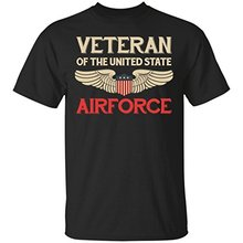 2017 New Fashion Brand Men Clothes Solid Color Veteran Of The United States Us Air Force - Veteran , T-shirt Brand clothing mult