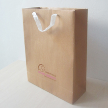 200pcs/lot 40*30*12cm art paper bag nature color with logo,brown tote bag,shopping bag craft paper,200g(China)