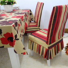 Rustic 100% cotton fabric table cloth tablecloth dining table cloth table cloth gremial one piece chair cover cushion customize