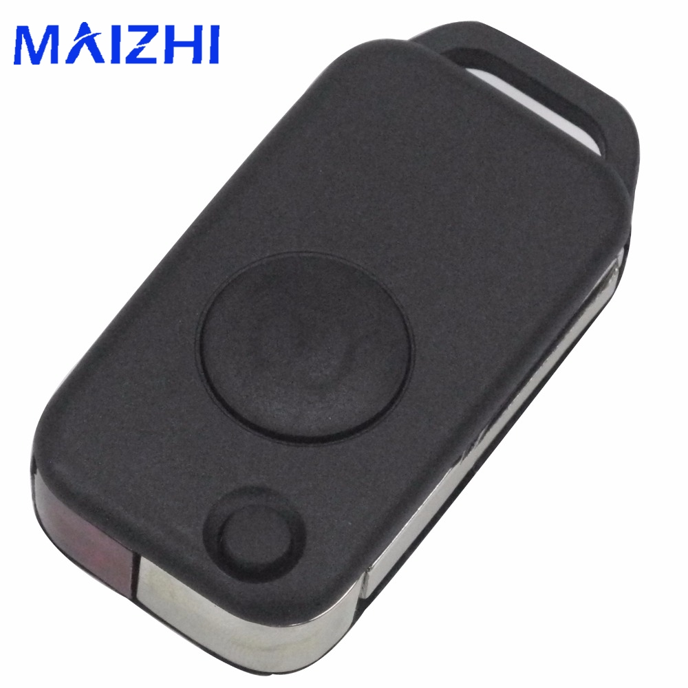 Jingyuqin 10pcs Uncut Blade Replacement Flip Folding Key Shell Case Cover Fob Benz Mercedes 1984-2004 1 BTN Small Blade