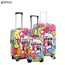 Elastic Luggage Protectice Covers Dustproof Travel Suitcase Cover Colorful Design Luggage Protector for 18-32 inch Trolley Case(China)