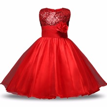 Princess Flower Girl Dress Wedding Birthday Party Dresses For Girls Children's teenagers dress Birthdays Clothing kids clothes(China)
