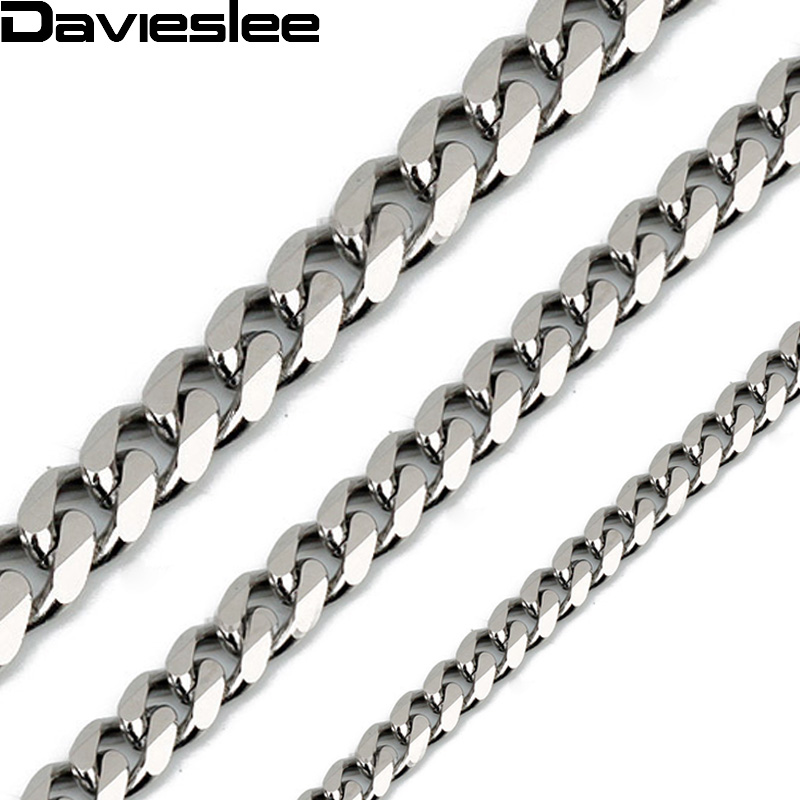 CUSTOMIZE SIZE 3/5/7mm Gold Color Silver Black Tone Mens Stainless Steel Chain Necklace Wholesale Christmas gift LKNM07(China (Mainland))
