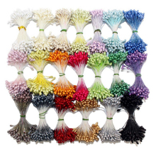 retail 3mm double tips eco-friendly DIY pearl stamen for cake decoration/crafts/Nylon flower(144pcs/lot)(China)