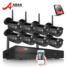 ANRAN Plug And Play 8CH NVR Wireless CCTV System 720P HD H.264 IP66 Mini Home Security Video WIFI IP Camera Surveillance Kit