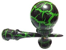 wholesale  Jumbo Giant Kendama Crack Black and Green High quality ball skills