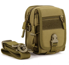 Top Quality Men Durable Nylon Fanny Waist Pack Belt Hip Messenger Bags Military Antitheft Small Assault Molle Sling Shoulder Bag(China)