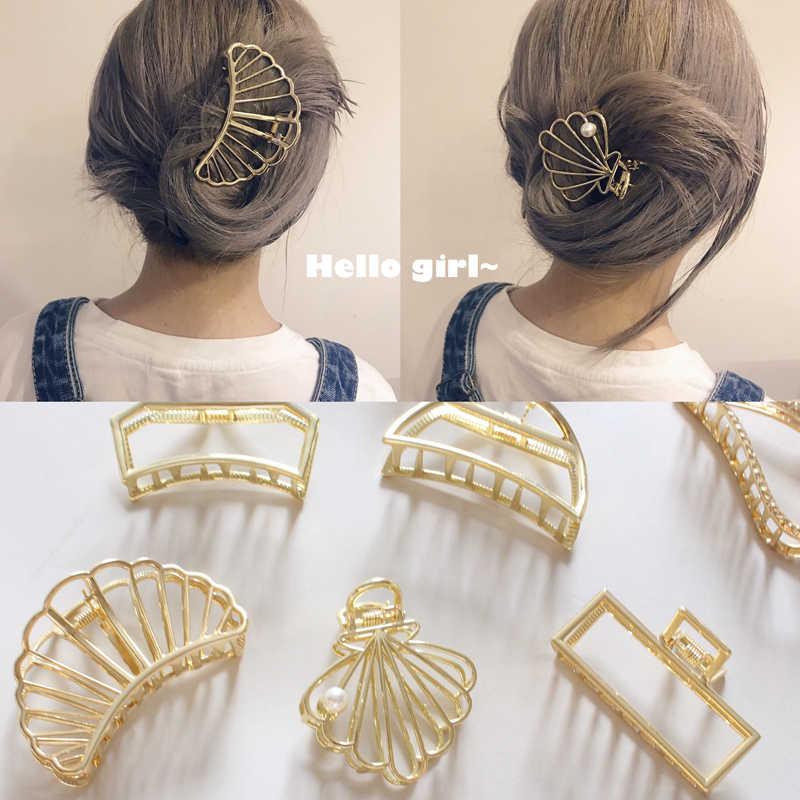 414144b98039 Европейский и американский Ретро Женские аксессуары для волос минимализм  металлические геометрические шпильки большой душ волосы хватают