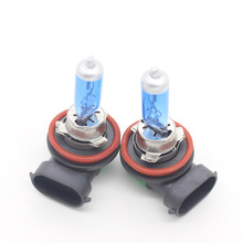 2X Auto H11 PGJ19-2 55W Halogen Bulb Car DRL Head Light Daytime Running Driving Light Running Fog Light Automobiles Car Styling