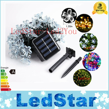 12M 100Led Solar Flower String Lights Cherry Pendant Decoration Park Outdoor Garden Holiday Garland Wreaths Lights Waterproof