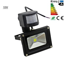 10W PIR LED Flood Light Outdoor Spotlight Motion Sensor Path Light Park Light IP65 AC85-256V Energy saving Free Shipping